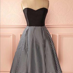 "1861 strapless ""new look"" dress"